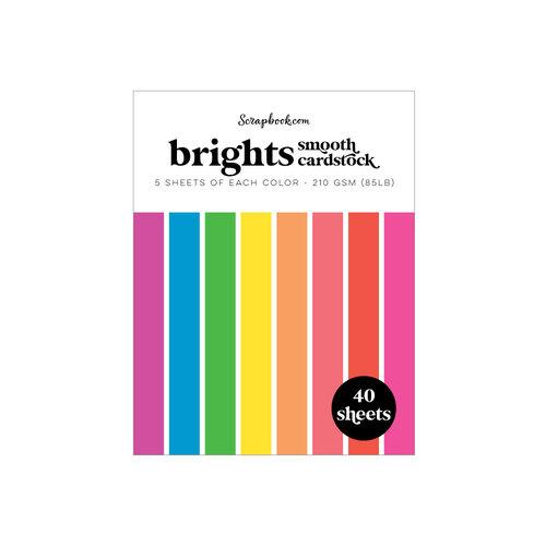 Scrapbook.com - Brights - Smooth Cardstock Paper Pad - A2 - 4.25 x 5.5 - 40 Sheets