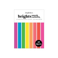 Scrapbook.com - Brights - Smooth Cardstock Paper Pad - A2 - 4.25 x 5.5 - 40 Sheets
