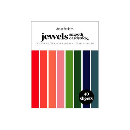 Scrapbook.com - Jewels - Smooth Cardstock Paper Pad - A2 - 4.25 x 5.5 - 40 Sheets