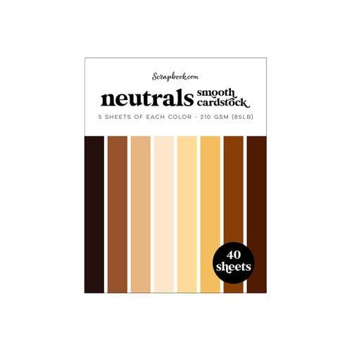 Scrapbook.com - Neutrals - Smooth Cardstock Paper Pad - A2 - 4.25 x 5.5 - 40 Sheets