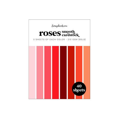 Scrapbook.com - Roses - Smooth Cardstock Paper Pad - A2 - 4.25 x 5.5 - 40 Sheets