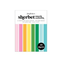Scrapbook.com - Sherbet - Smooth Cardstock Paper Pad - A2 - 4.25 x 5.5 - 40 Sheets