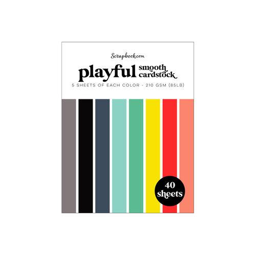 Scrapbook.com - Playful - Smooth Cardstock Paper Pad - A2 - 4.25 x 5.5 - 40 Sheets
