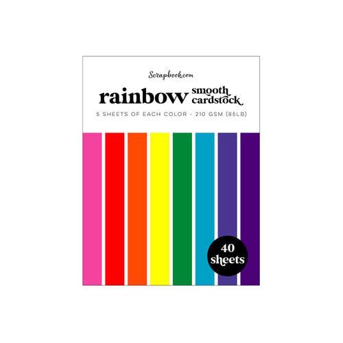 Scrapbook.com -Rainbow - Smooth Cardstock Paper Pad - A2 - 4.25 x 5.5 - 40 Sheets