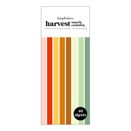 Scrapbook.com - Harvest - Smooth Cardstock Paper Pad - Slimline - 3.5 x 8.5 - 40 Sheets