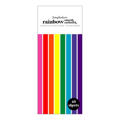 Scrapbook.com - Rainbow - Smooth Cardstock Paper Pad - Slimline - 3.5 x 8.5 - 40 Sheets