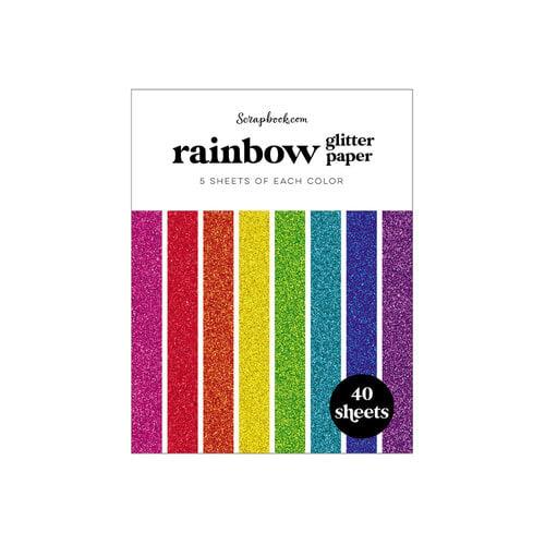 Scrapbook.com - Rainbow - Glitter Paper Pad - A2 - 4.25 x 5.5 - 40 Sheets