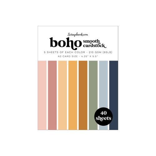 Scrapbook.com - Boho - Smooth Cardstock Paper Pad - A2 - 4.25 x 5.5 - 40 Sheets