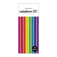 Scrapbook.com - Rainbow - Glitter Paper Pad - Slimline - 3.5 x 8.5 - 40 Sheets