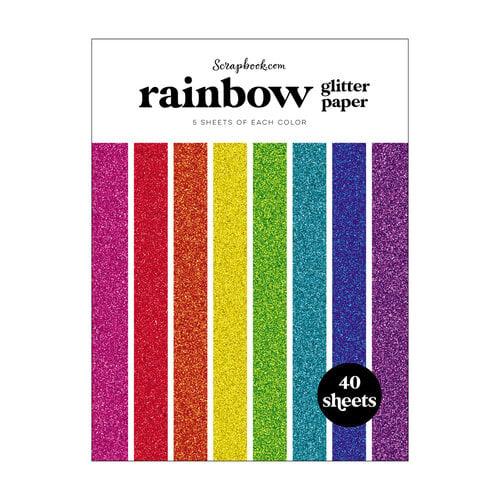 Scrapbook.com - Rainbow - Glitter Paper Pad - 6x8 - 40 Sheets