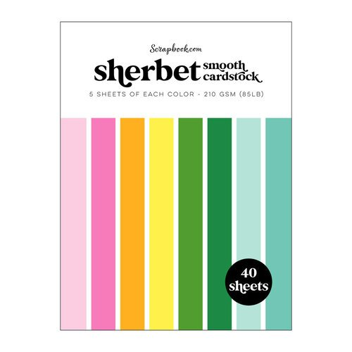 Scrapbook.com - Sherbet - Smooth Cardstock Paper Pad - 6x8 - 40 Sheets