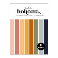 Scrapbook.com - Boho - Smooth Cardstock Paper Pad - 6x8 - 40 Sheets