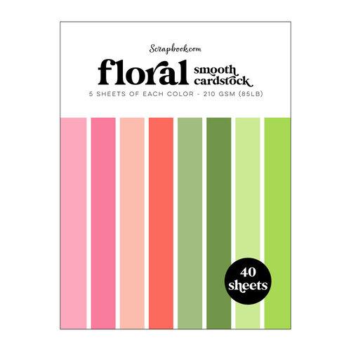 Scrapbook.com - Floral - Smooth Cardstock Paper Pad - 6x8 - 40 Sheets