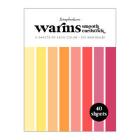 Scrapbook.com - Warms - Smooth Cardstock Paper Pad - 6x8 - 40 Sheets