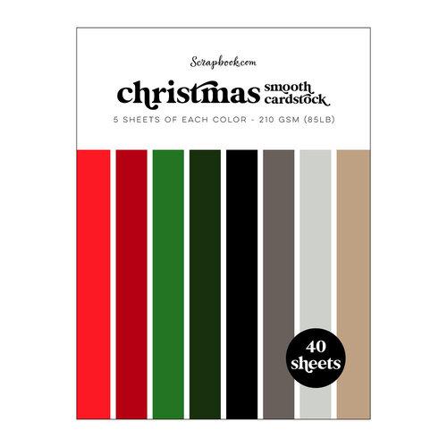 Scrapbook.com - Christmas - Smooth Cardstock Paper Pad - 6x8 - 40 Sheets