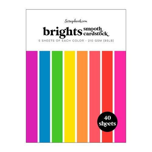 Scrapbook.com - Brights - Smooth Cardstock Paper Pad - 6x8 - 40 Sheets