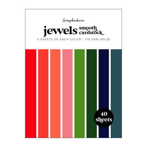 Scrapbook.com - Jewels - Smooth Cardstock Paper Pad - 6x8 - 40 Sheets