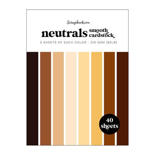 Scrapbook.com - Neutrals - Smooth Cardstock Paper Pad - 6x8 - 40 Sheets