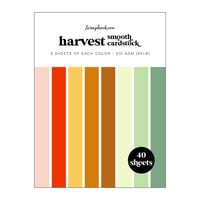 Scrapbook.com - Harvest - Smooth Cardstock Paper Pad - 6x8 - 40 Sheets