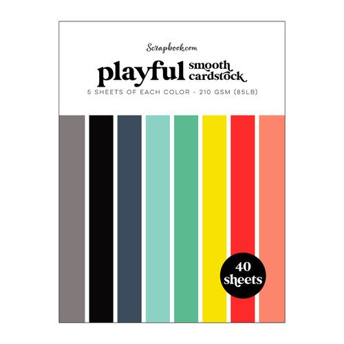 Scrapbook.com - Playful - Smooth Cardstock Paper Pad - 6x8 - 40 Sheets