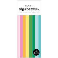 Scrapbook.com - Sherbet - Smooth Cardstock Paper Pad - Slimline - 3.5 x 8.5 - 40 Sheets