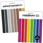 Scrapbook.com - Glitter Paper Pad - 6x8 - Bundle of 2 Paper Pads - 80 sheets