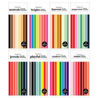 Scrapbook.com - Smooth Cardstock Paper Pad - Slimline - Kit 2 - Bundle of 8 Paperpads - 320 Sheets