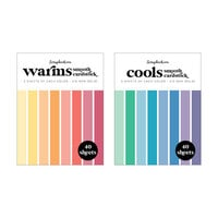 Scrapbook.com - Cools and Warms - Smooth Cardstock Paper Pads - 4.25 x 5.5 - 80 Sheets