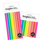 Scrapbook.com - Smooth Cardstock Paper Pad - Brights - Bundle of 2 Paper Pads - 80 Sheets