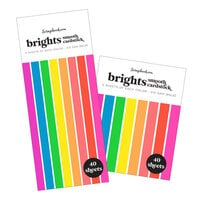 Scrapbook.com - Smooth Cardstock Paper Pad - Brights - Bundle of 2 Paper Pads - 80 Sheets
