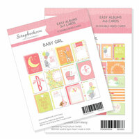 3 x 4 and 4 x 6 - Themed Cards for Easy Albums - Baby Pinks Bundle
