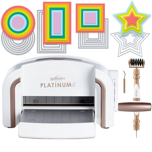 Exclusive Spellbinders Platinum 6 Machine Die Cutting Bundle - Nested Basics Die Sets
