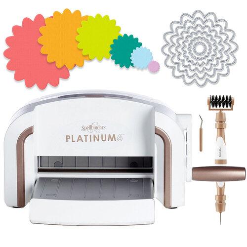 Scrapbook.com - Exclusive Spellbinders Platinum 6 Machine Die Cutting Bundle - Nested Flowers