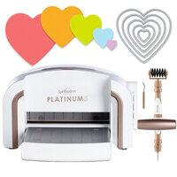 Exclusive Spellbinders Platinum 6 Machine Die Cutting Bundle - Nested Hearts