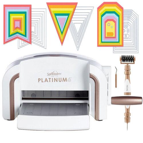 Exclusive Spellbinders Platinum 6 Machine Die Cutting Bundle - Nested Jumbo Die Sets