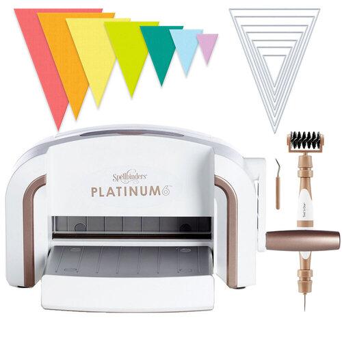 Exclusive Spellbinders Platinum 6 Machine Die Cutting Bundle - Nested Jumbo Triangle Pennants