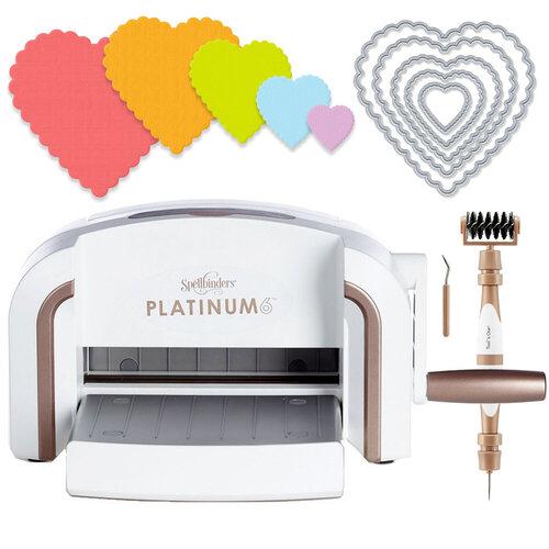 Scrapbook.com - Exclusive Spellbinders Platinum 6 Machine Die Cutting Bundle - Nested Scalloped Hearts