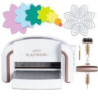 Scrapbook.com - Exclusive Spellbinders Platinum 6 Machine Die Cutting Bundle - Nested Spring Flower