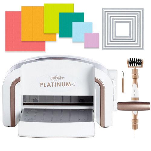 Scrapbook.com - Exclusive Spellbinders Platinum 6 Machine Die Cutting Bundle - Nested Squares