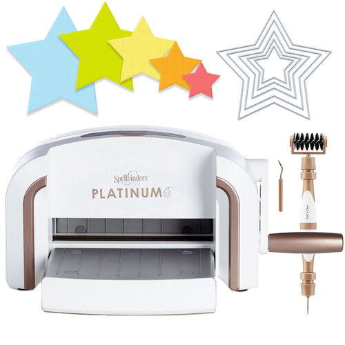 Scrapbook.com - Exclusive Spellbinders Platinum 6 Machine Die Cutting Bundle - Nested Stars
