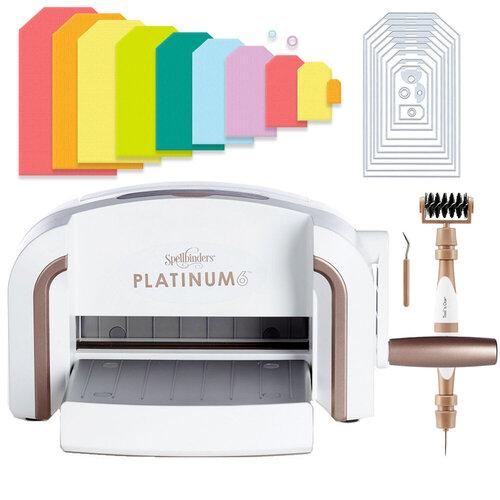 Scrapbook.com - Exclusive Spellbinders Platinum 6 Machine Die Cutting Bundle - Nested Jumbo Tags