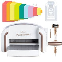Exclusive Spellbinders Platinum 6 Machine Die Cutting Bundle - Nested Jumbo Tags