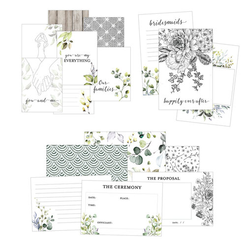 Scrapbook - Simple Scrapbooks - Cards - Wedding - 42 Pack