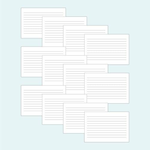 Scrapbook - Simple Scrapbooks - Cards - 4x6 Horizontal Journaling Cards - 12 Pack