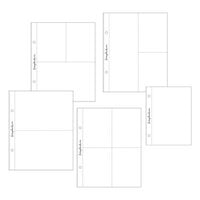 Scrapbook.com - 6x8 Page Protectors - Pocket Variety 3 - 45 Pack