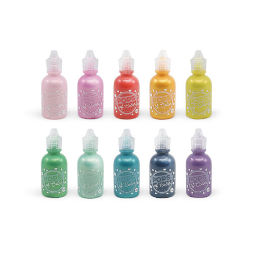 Scrapbook.com - Pops of Color - Pearl - Rainbow Bundle - 1oz - 10 Pack