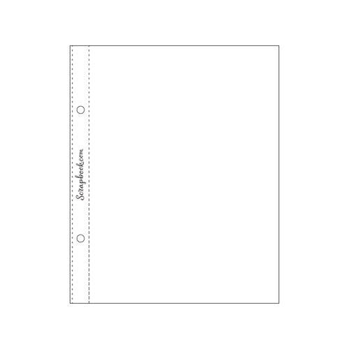 Scrapbook.com - 6x8 Open Page Protectors - 10 Pack