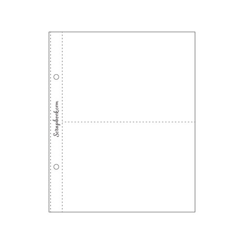Scrapbook.com - 6x8 Page Protectors - Two 4x6 - 10 Pack