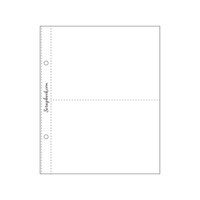 Scrapbook.com - 6 x 8 Page Protectors - Two 4 x 6 - 10 Pack