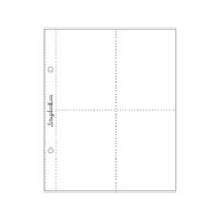 Scrapbook.com - 6x8 Page Protectors - Four 3x4 - 10 Pack